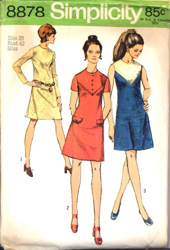 Vintage Simplicity 8878 Misses Chic Dress Pattern Size 20
