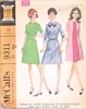 1960s McCalls 9311 Easy Dress Pattern Size 20 1/2 NOS