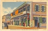 Linen Postcard Drug Store ST Thomas VI Riise Rums 1937
