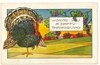 Vintage Thanksgiving Greeting Embossed Postcard with Turkey 1937