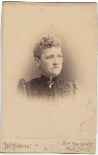 Cabinet Card - Woman in Victorian Dress with Soutache Trim 1800s