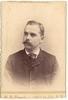Cabinet Card Man Gold Scallop Edge Muench Photo