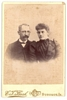 Antique Cabinet Card Young Couple Man & Lady 1860s
