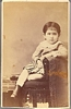 CDV of Greek Child Cabinet Card Sitting in Chair 1860s