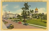 Linen Postcard Curt Teich Hotel Boise and State Capital ID 1937