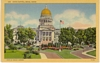 Linen Postcard Wesley Andrews Photo State Capitol Boise ID