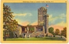 Linen Postcard Observatory Tower at Lambert Castle Paterson NJ