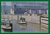 Postcard Boat Locks Bonneville Dam Columbia River WA / OR
