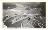 RPPC Photo Postcard Aerial View Bonneville Dam Oregon - Washington