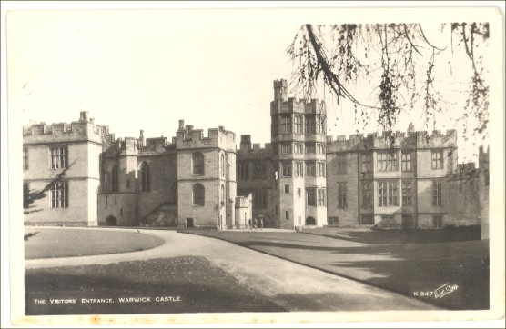 Artist Signed RPPC Real Photo Postcard Warwick Castle England