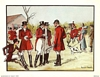 Anthony Gruerio Litho Print of People in a British Fox Hunt Scene