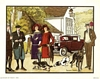 Anthony Gruerio Litho Print of People Going Deer Hunting at Lodge