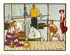 Anthony Gruerio Litho Print as People Sit on the Dock of the Bay