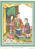 Chinese Empress and Court Ladies reproduced print