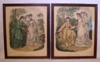 A Pair of Framed Victorian La Mode Illustree Fashion Prints 1942
